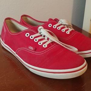 VANS Authentic Low Pro Red Shoes
